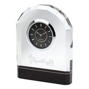 Pomezia Crystal Desk Clock
