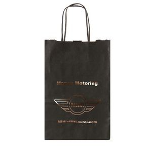 "Solid Tinted Kraft Shopping Bags (5.25""x3.25""x8.375"")"