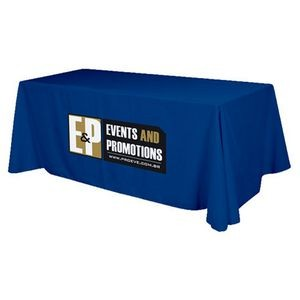 3 Sided Flat Polyester Screen Printed Table Cover (Fits 8' Table)