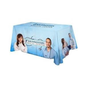 Polyester Digital Direct Print Table Cover 3 sided, 6 foot