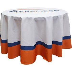 Round Polyester 3 Sided Fitted Table Cover w/ All Over Full Color (Fits 3' Table)
