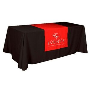 "Poly/ Cotton Twill Cover Fit Top & 18"" Front Screen Printed Table Runner"