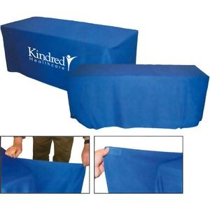 Convertible Polyester Table Cover w/ 4 Side Coverage (6' to 8' Table)
