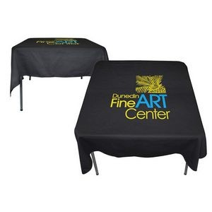 Poly/ Cotton Twill Square 3 Sided Flat Screen Printed Table Cloth