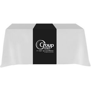"Poly/ Cotton Twill Cover Fit Front, Top & 12"" Back Screen Printed Table Runner"
