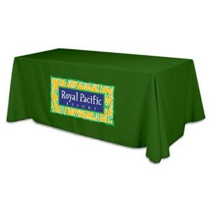 4 Sided Flat Polyester Screen Printed Table Cover (Fits 8' Table)