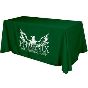 4 Sided Flat Polyester Screen Printed Table Cover (Fits 6' Table)