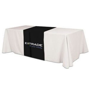 Poly/ Cotton Twill Cover Fit Front, Top & Back Screen Printed Table Runner